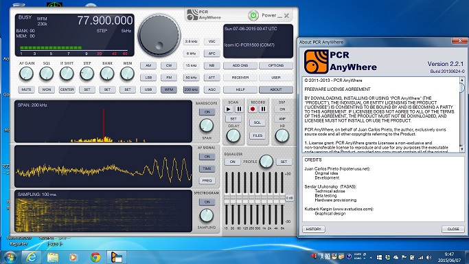 icom pcr1500 software